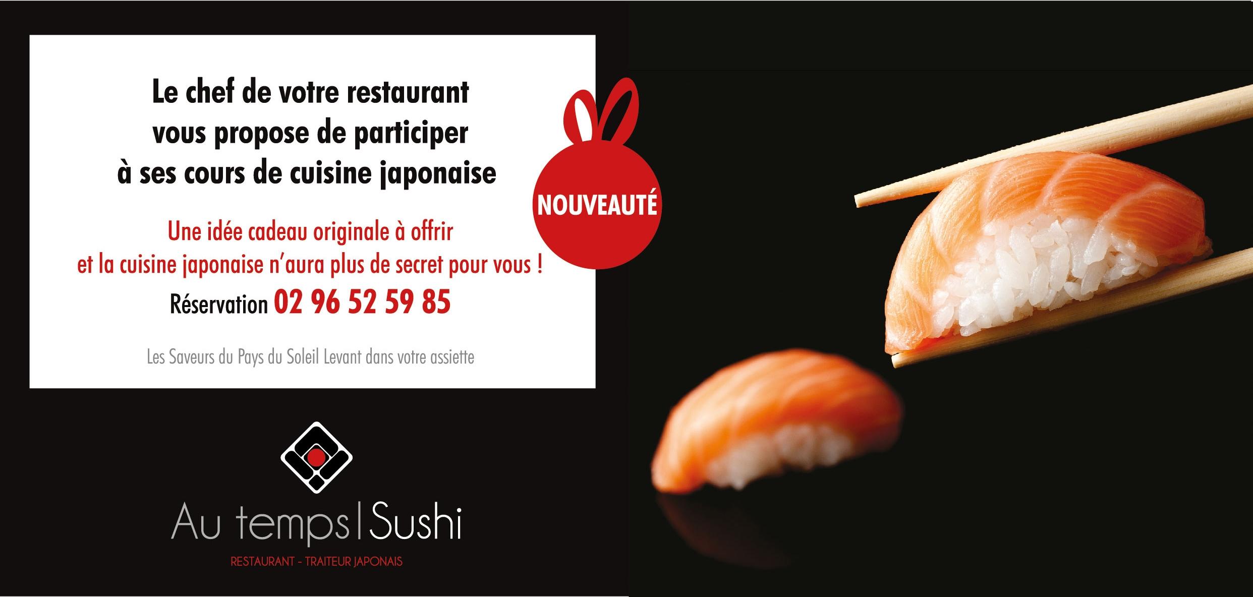 Nouveau cours de cuisine japonaise for Offrir cours de cuisine