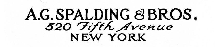 marque A.G.SPALDING & BROS
