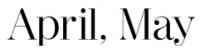 marque APRIL MAY